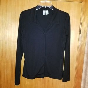 Black knit light jacket vintage